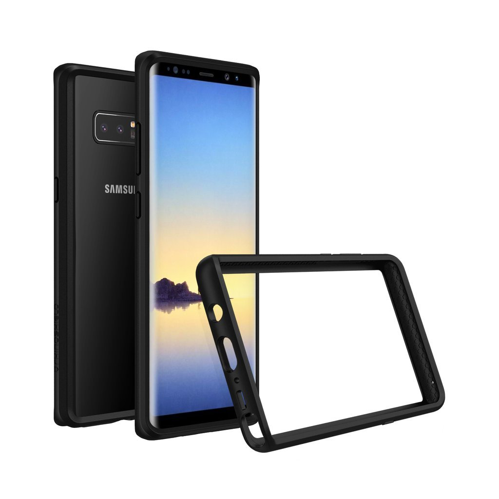 RhinoShield Bumper for Galaxy Note 8 [CrashGuard] | Shock Absorbent Slim Design Protective Cover - Compatible w/Wireless Charging [3.5M / 11ft Drop Protection] - Black by RhinoShield