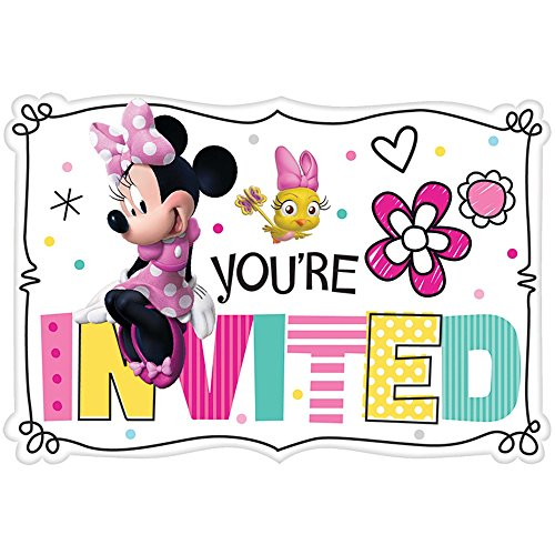 Minnie Mouse Invitation (Amscan Minnie Mouse Happy Helpers Invitations (8 ct),Multi-colored,One)