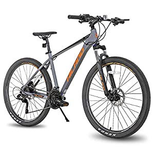 Hiland 27.5 Inch Mountain Bike 27-Speed for Man with 18/19.5 Inch Frame Suspension Fork