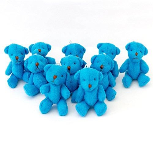 New 10 X Cute and Cuddly Little Blue Teddy Bear - Gift Present Birthday Xmas