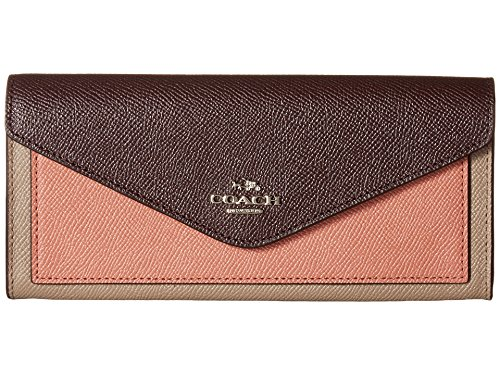 COACH Women's Soft Wallet In Colorblock Leather Sv/Stone/Melon Multi One Size by Coach