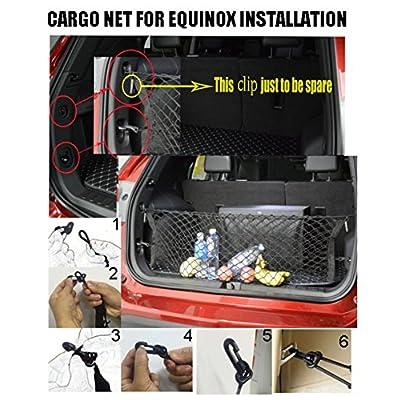 Kaungka Cargo Net Nylon Rear Trunk for 2020 Chevrolet Equinox GMC Terrain: Home Improvement