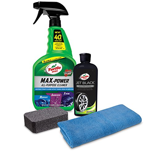 Turtle Wax 50757 Jet Black Tire and Trim Coating - Black Scratch Remover Plastic