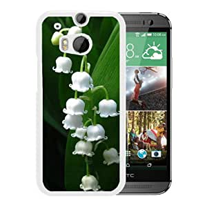 New Beautiful Custom Designed Cover Case For HTC ONE M8 With Nature Lily Of Valley (2) Phone Case
