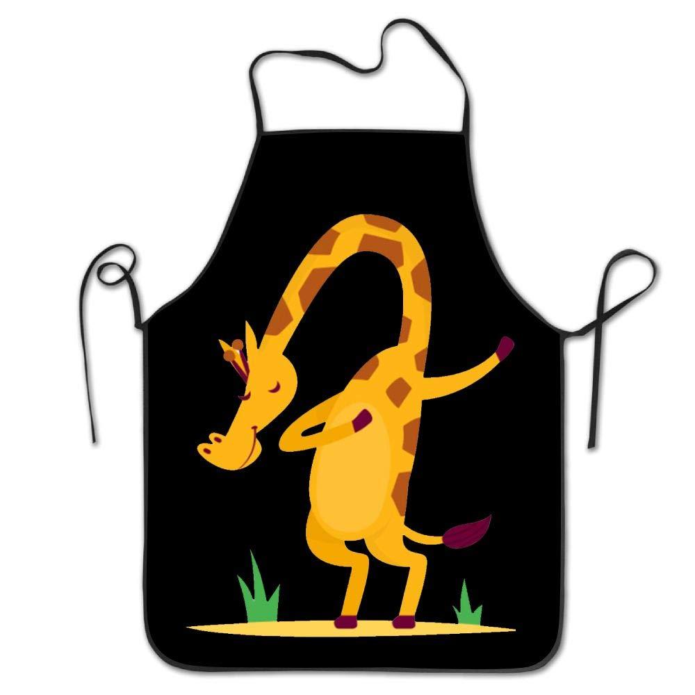 Dabbing Giraffe Dance Kitchen Aprons Adjustable Aprons Bib Apron