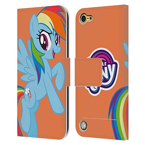 Official My Little Pony Rainbow Dash Solo Character Art Leather Book Wallet Case Cover Compatible for iPod Touch 5G 5th Gen