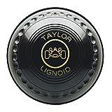 Taylor Lignoid Progrip Heavy Black Outdoor Grass Lawn Short Mat Bowls - Set of 4