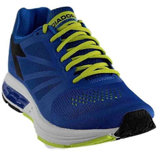 Diadora Men's Kuruka Running Shoe, Saltire Navy/Lemon Acid Green, 10.5 M US