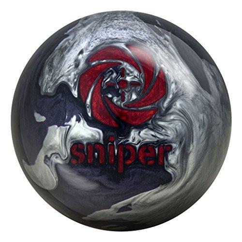 Motiv Midnight Sniper Bowling Ball Black/Silver/Red, 15lbs