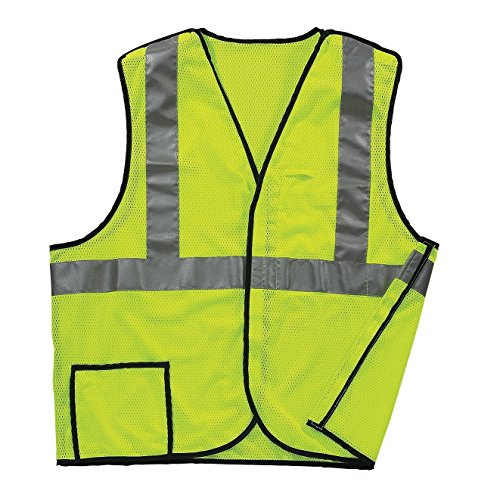 Safety Away Vest Tear (Galeton 8200332-XXXL-LI 8200332 Illuminator Class 2, 5-Point Breakaway Breathable Mesh SAFETY Vest, Lime, 3X-Large)
