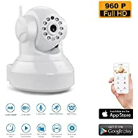 960P Wireless WiFi Security Camera HD Pan Tilt IP Network Surveillance Webcam,Baby Monitor,Remote View Two-Way Talk Dog Cam(128GB SD Slot)