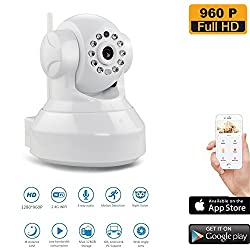 Evaikon Wireless Wifi Security Camera 960p Hd Pan Tilt Ip Network Surveillance Webcam Baby Monitor Remote View Two Way Talk Dog Cam 128gb Sd Slot