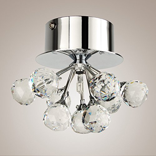Modern Ceiling Porch Lights Mini Style Crystal Ceiling Light Pendant Lamp Modern Flush Mount Chandelier in Floral Ceiling Pendant Fixtures for Living Room Dining Room Bedroom - Floral Ceiling Fixture