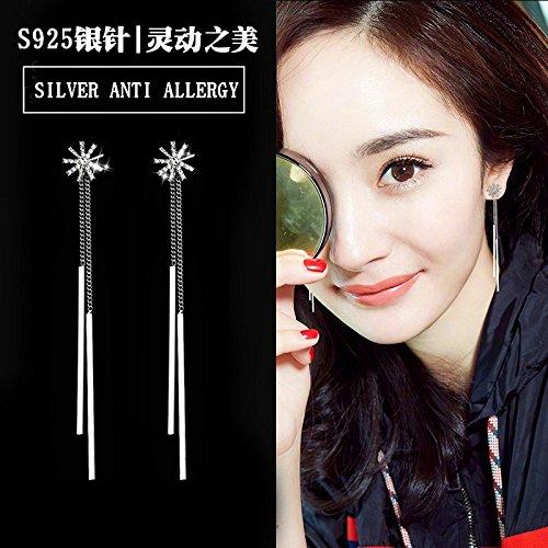 Amazon.com: usongs fashion earrings wind elegant long section women girls fashion earrings simple geometric earrings earrings ear hook: Home & Kitchen