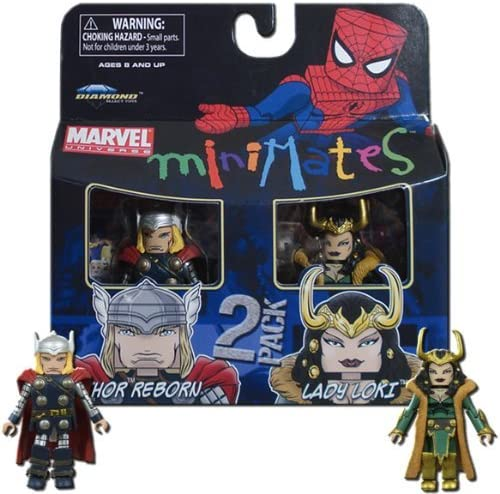 Marvel Minimates Series 33 Mini figura 2 Pack Thor y Loki: Amazon.es: Juguetes y juegos