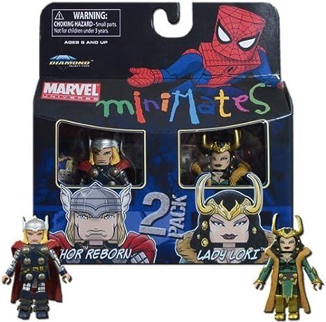 Marvel Minimates Series 33 Mini figura 2 Pack Thor y Loki: Amazon ...