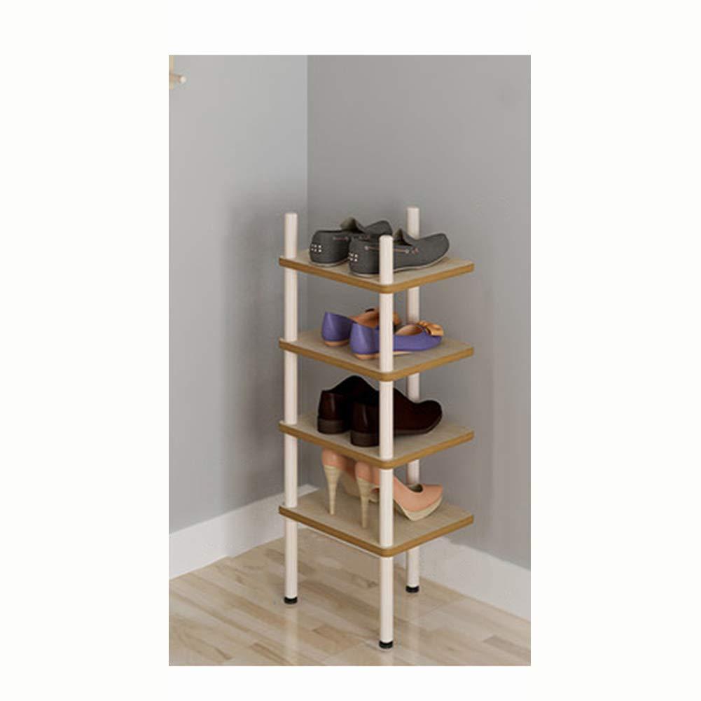 JIANFEI Shoe Shelf Rack Multi-Layer Multifunction Storage More Styles Detachable Artificial Board (Color : Wood Color, Size : 30x24x73cm)