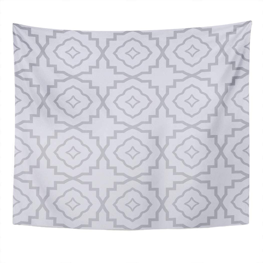 Suklly Tapestry Wall Hanging Gray Zigzag Geometrical Linear Original 30S Advert Deco Asia Culture Home Decor Polyester Living Bedroom Dorm 50 X 60 Inches Picnic Mat Beach Towel Bed Cover