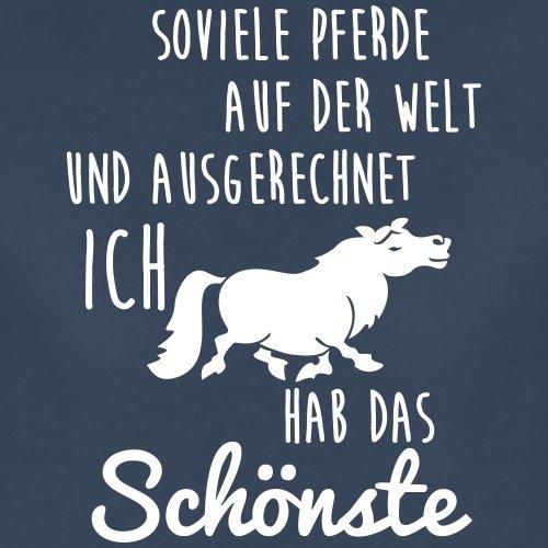 Ich Habe Das Schönste Pferd Spruch Frauen Premium T Shirt