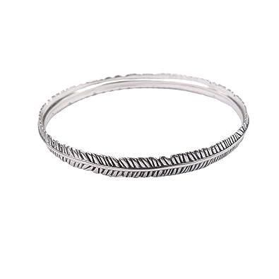 Amazon Com Silver Feather Bracelet Minimalist Bracelet Simple