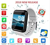 Fitness Tracker 2018, Waterproof Big Color Screen Activity Tracker with 8 Sports Modes Pedometer HR Blood Pressure Spo2 Monitor Smart Watch for Kids Men Women with Replacement Band for Android iPhone For Sale
