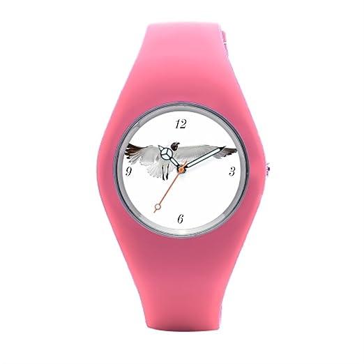 timetoshine deportes relojes Jennifer rosa png silicona reloj de pulsera deportivo: Amazon.es: Relojes