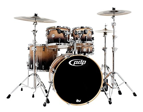 PDP by DW Concept Maple by DW 5-Piece Shell Pack Natural to Charcoal Fade
