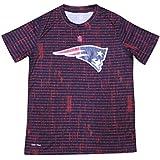 Youth NE Patriots Athletic Crew-Neck Dri-Tek T-Shirt
