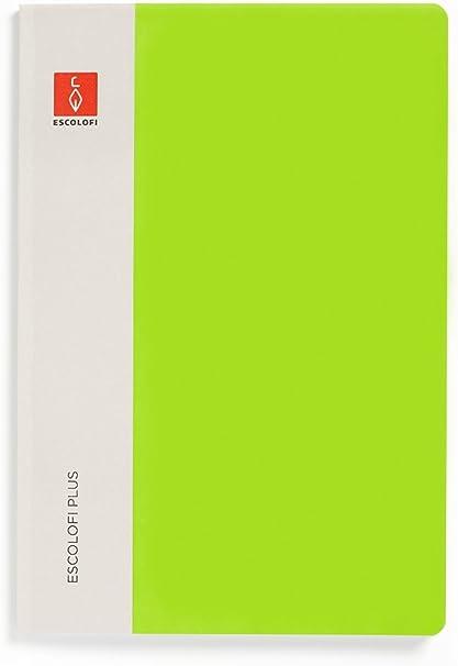Escolofi Pack de 3 libretas piqué de 50 hojas de 90 gr/m2 DIN A4 línea 8 mm margen color verde: Amazon.es: Oficina y papelería