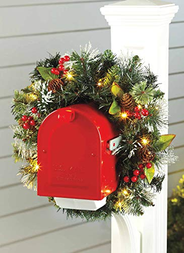 Lighted Christmas Swags For Outdoors in US - 1
