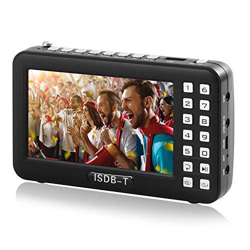 [해외]휴대용 텔레비전 휴대용 텔레비전 라디오 FM ワンセグポケット 안테나 내장 4.3 인치 USB 전원 대응 (블랙) / Portable TV Portable TV Radio FM One-Segment Pocket Antenna Built-in 4.3 Inch USB Power Supply (Black)