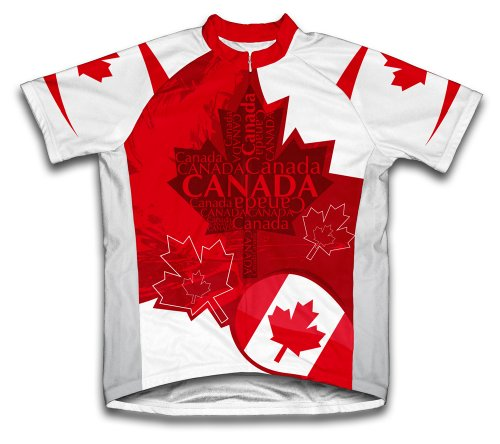 ScudoPro Canada Art Short Sleeve Cycling Jersey for Men - Size 4XL