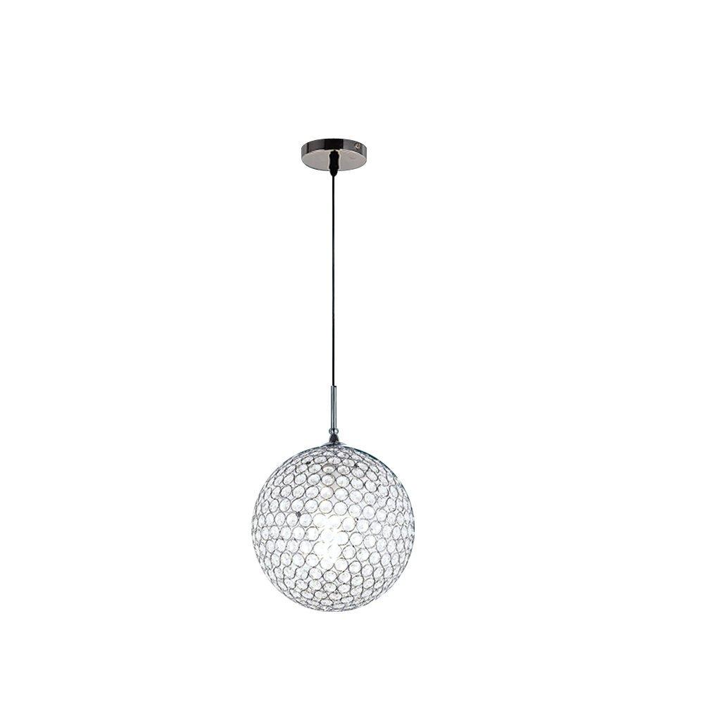 DINGGU Modern Ball Crystal Pendant Light Chandelier Lamp Fixture