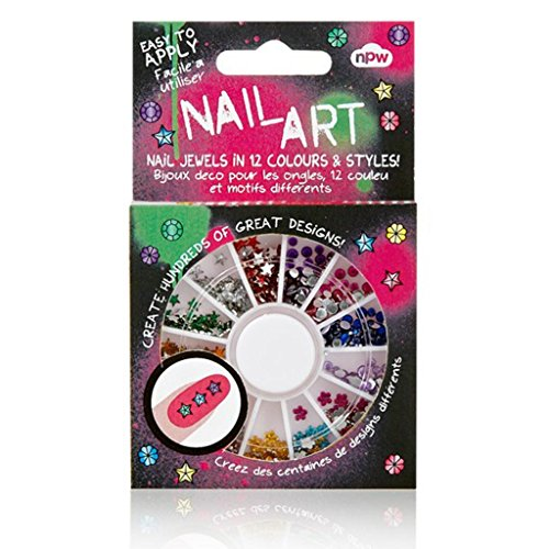 NPW-USA 500 Piece Nail Art Bling Gem Wheel, Jewels for $<!--$4.95-->