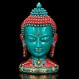 AapnoCraft Thai Sakyamuni Buddha Sculpture - Large Buddha Head Wall Hanging/Mask Buddha Handpainted Buddha Figurine Buddhism Decor