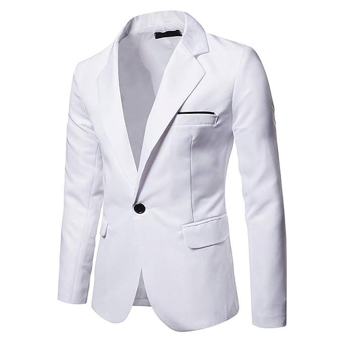 Liqiqi Giacca Uomo Elegante Completo Blazer Bianco