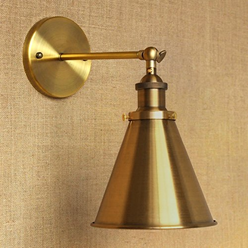 Cone Light Fixture - BAYCHEER HL448796 Industrial Vintage Wall Sconce Wall Lamp Light Fixture with Cone Shade for Indoor Bar Warehouse Hallway Restaurant Use 1 E26 Light Bulb