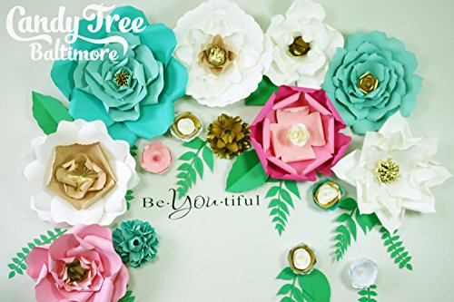 Paper Flower Backdrop / Giant Paper Flowers Wall / Paper Flower Wall / Wedding Wall / Wedding Arch by Candy Tree Baltimore