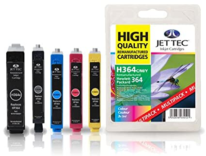 5 cartuchos de tinta Jettec para impresora HP Photosmart ...