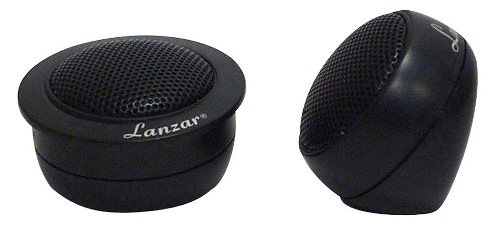 Lanzar TCS 1-Inch Silk Dome Neodymium Flush Surface or Angle Mount Tweeter Sound Around