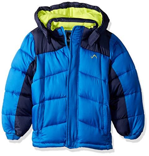 Vertical '9 Boys' Little Pop Colors Bubble Jacket, Blue, 7