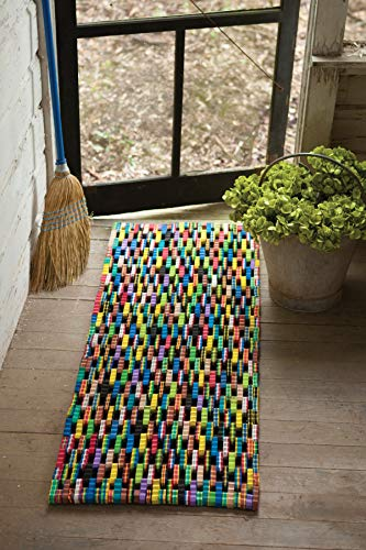 - Kalalou Recycled Flip Flop Door Mat, One Size, Multicolor