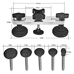 Super PDR 16Pcs Pops-a-dent Dent & Ding Paintless Dent Removal Repair Tool Kits Pdr Glue Puller Glue Gun Stricks Knowdown Kits(16pcs)