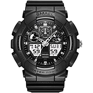 Cool Chronograph Waterproof Analog Digital Sports Watch for Men