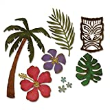 Sizzix 661207 Thinlits Die Set, Tropical by Tim Holtz (8/Pack)