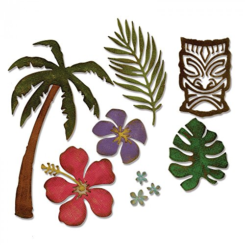 Sizzix 661207 Thinlits Die Set, Tropical by Tim Holtz (8/Pack) by Sizzix