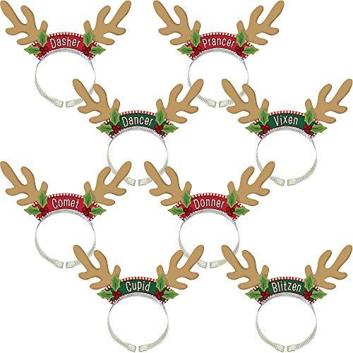 - Amscan Santa's Reindeer Headbands, 8 Ct.   Christmas Accessory