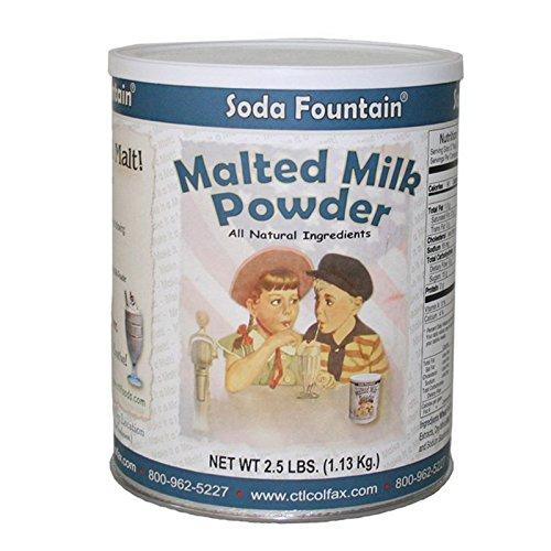 Malted Milk Powder - Soda Fountain Malted Milk Powder 2.5 Lb. (Single) - Malt Powder for Ice Cream and Baking - Made in Wisconsin