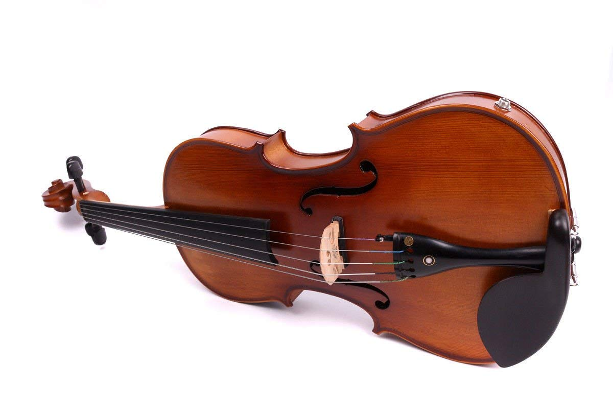 Yinfente 4/4 violin 5 string Electric violin Full size Maple Spruce wood Big jack Ebony wood Violin parts Sweet Sound by yinfente (Image #9)