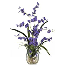 Nearly Natural 1119-PP Dancing Lady Orchid Liquid Illusion Silk Flower Arrangement, Purple